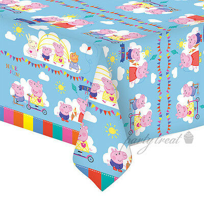 Peppa Pig Birthday Party Supplies Plastic Tablecloth Tablecover Decoration