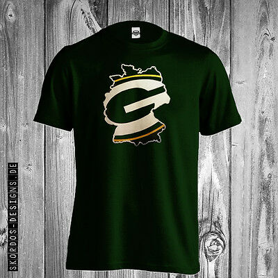 T-Shirt Green Bay Packers Germany Gr. S - 5XL