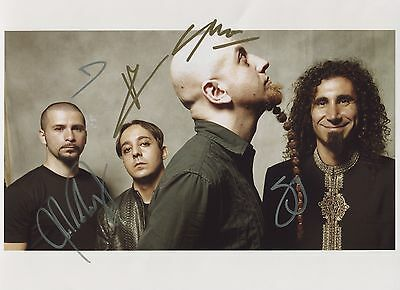 System Of A Down SIGNED Photo 1st Generation PRINT Ltd 150 + Certificate / 2