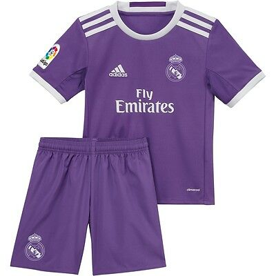 Real Madrid Official Adidas Away  2016/17 Mini Kit Age 7/8 Years Brand New