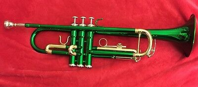 Green Bb CIBAILI Trumpet • High Quality • Hardly Used with Case •