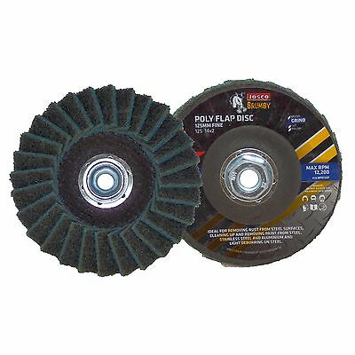 Josco BRUMBY QUICK CHANGE POLY FLAP DISCS 127mm Removes Rust BLUE *Aust Brand