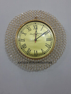 Unique & Decorative  Diamond Style Frank line Murphy EST 1868  Brass Wall Clock
