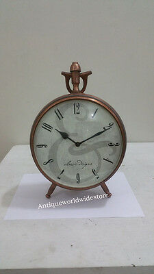 Collectible Beautiful  Nautical  Clock 8''  Copper look Home decor Table clock