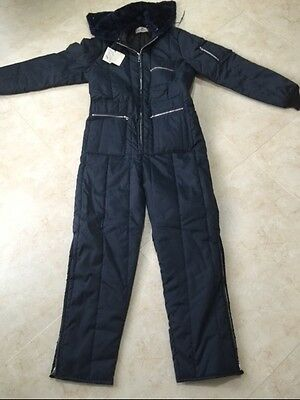 Woodfield Mes' Insulated Coveralls Snow Suit With Hooded Size Medium NOS
