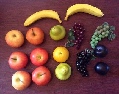Fruit Decor Fake Artificial Props Staging Crafts Realistic Man Made 16 Pieces