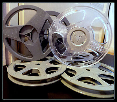 Standard 8mm Quality 200ft (60m) Film Spool / Reel & New Storage Box & Labels