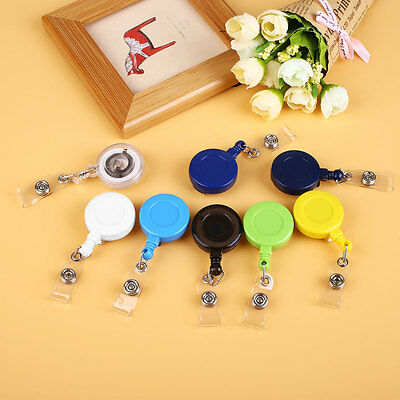 5Pcs Retractable ID Card Badge Holder Key Chain Lanyard Reels with Belt Clip