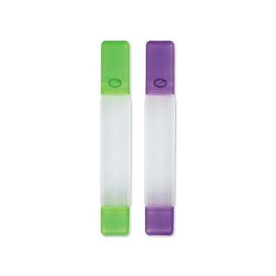 Clover Single Pointed Straight Needle Case/Tube Green 3119 or Purple 3120