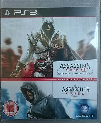 Assassin's Creed II -- Game of The Year Edition and Creed 1 (Sony PlayStation 3)