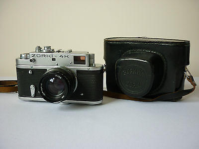Vintage Zorki 4K 35mm camera with Jupiter 8 lens