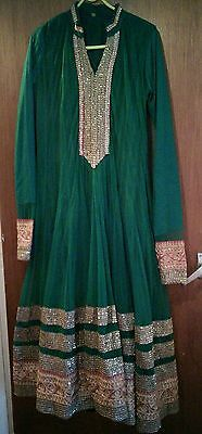 Asian Indian Bollywood Pakistani girls/womens/ladies outfit frock size m/l