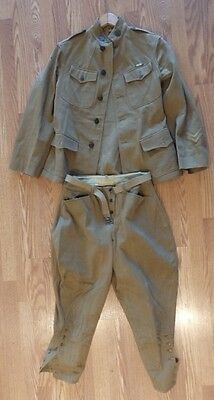 WW1 US Army Medic Uniform (tunic pants Belt) Corporal Advance Expeditionary