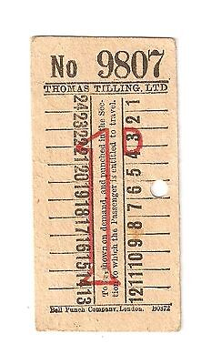 An Early Thomas Tilling Bus Ticket With Advertising For 'goddard's White Oils'