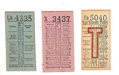 3 Lovely Old Tickets For Ipswich Corporation Trams And Tramways All With Adverts