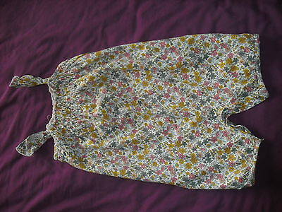 Baby Girls Play Suit. By Next. Yellow, grey, Pink Floral. 12-18 Months