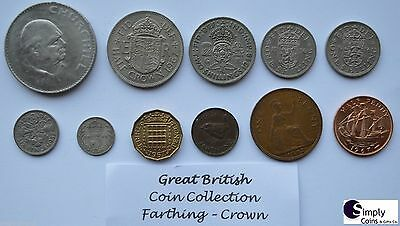 British Coin Collection Pre-Decimal / Crown - Farthing - Christmas Gift Set