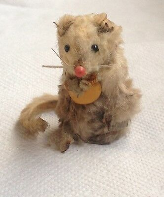 """Vintage Mouse """"Original Fur Toys"""" Mouse Made In West Germany."""