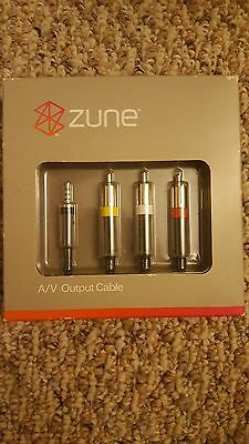 Zune A/V Output Cable Discontinued by Manufacturer- NIB