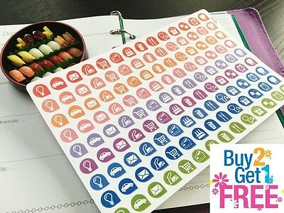 PP228-- Small Icons Life Planner Die-cut Stickers for Erin Condren (126pcs)