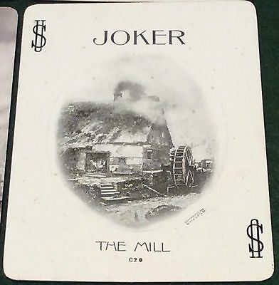 ANTIQUE 1899 USPC CONGRESS 606 Named ** MILL + MILL JOKER ** WIDE PLAYING CARDS