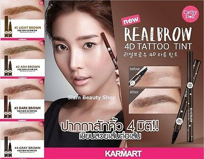 Cathy Doll Real Brow 4D Tattoo Tint Tip Magic Pen Eyebrow Quick Dry Color Brown