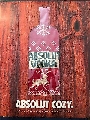 Absolut Cozy-Oversized Packaging--1 liter unopened Cynthia Rowley Sweater