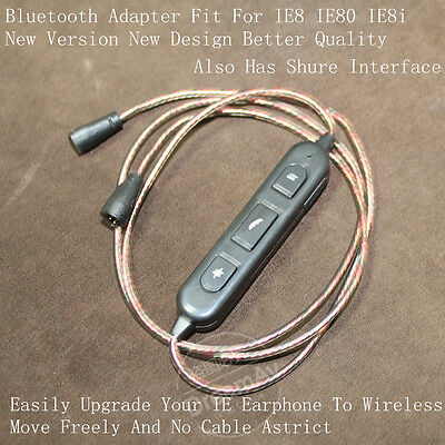 Bluetooth Wireless Adapter Upgrade Cable for IE8 IE80 IE8i Headphone Shure SE535
