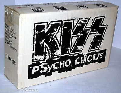 KISS PSYCHO CIRCUS Action Figure 4pc Set LOGO CASE BOX SET McFarlane Gene Ace