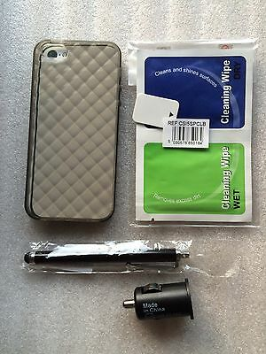 Accessories Kit iPhone 5 5S SE Charger Cover Stylus Screen Protector