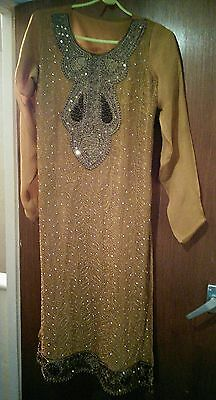 Asian Indian Bollywood Pakistani girls/womens/ladies outfit frock size s