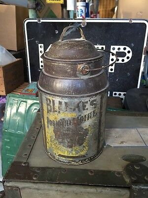 Antique Blanke's Portonilla Coffee Tin Canister St. Louis Missouri Embossed Base
