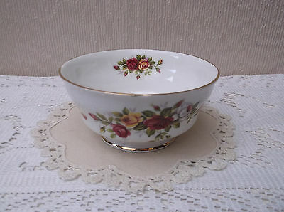 Duchess vintage floral sugar basin - Bone China - Made in England