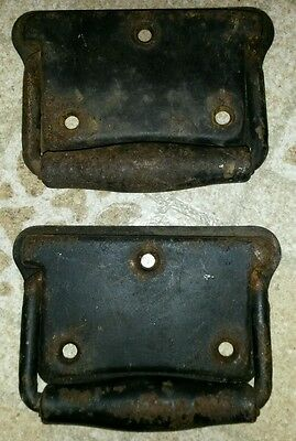 Pair of Vintage Steel / Iron Trunk Handles / Chest Handles / Drawer Pulls