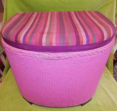Vintage Lloyd Loom Style Small Footstool Ottoman for Up-Cycling? - Wirral CH45