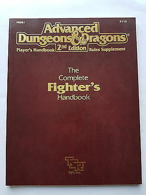 The Complete Fighter's Handbook Advanced Dungeons and Dragons 2nd Ed. 2110 TSR