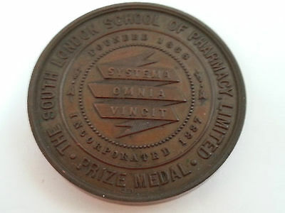 Antique Bronze Pharmacy Award Medal Made by Neal