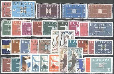 Cept Europa 1963 ** annata completa MNH year beautiful and complete 72,00