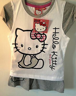 Hello Kitty Summer Sets, Turquoise, Grey Or Pink, 2 - 8 Years