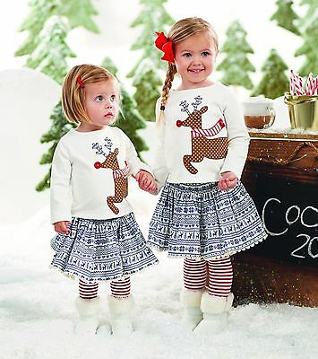 mud pie christmas holiday reindeer skirt set with attached tights - Mud Pie Christmas Outfit