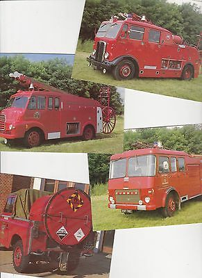Fire Services National Benevolent Postcards - Fire Engines - Numbers 44 to 47