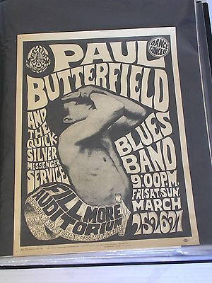 PAUL BUTTERFIELD & QUICKSILVER CONCERT POSTER by WES WILSON FD003