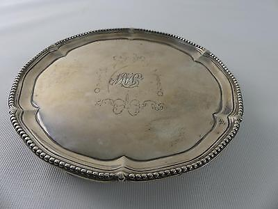 (Ref165CI) Antique Solid Silver Tray Makepeace and Carter London 1816