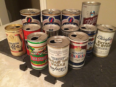 13 Vintage Tin Beer Cans