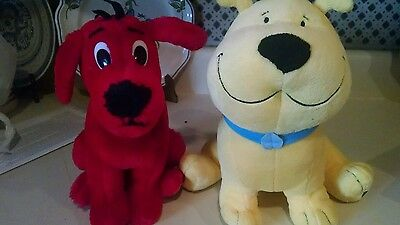 Clifford the big red dog plush lot of 2