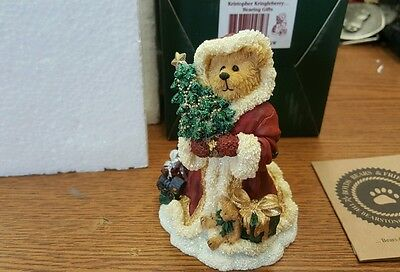 Kristopher Kringleberry Bearing Gifts Boyds Bears Figurine 228466