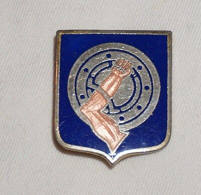 34th Armor Regiment German Made DUI DI Unit Crest Pin Back Post WWII M0224