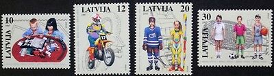 Children's leisure pursuits stamps, 1997 basketball Latvia, SG ref: 473-476, MNH
