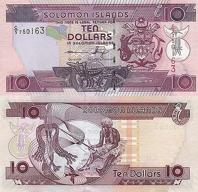 Solomon Islands 10 Dollars (ND/2006) - Shark/Weaver/C5 Prefix UNC