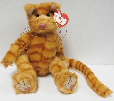 "Ty Attic Treasures ""Basil"" Orange Tabby CAT Brand New PRISTINE CLEAN w/Mint Tags"